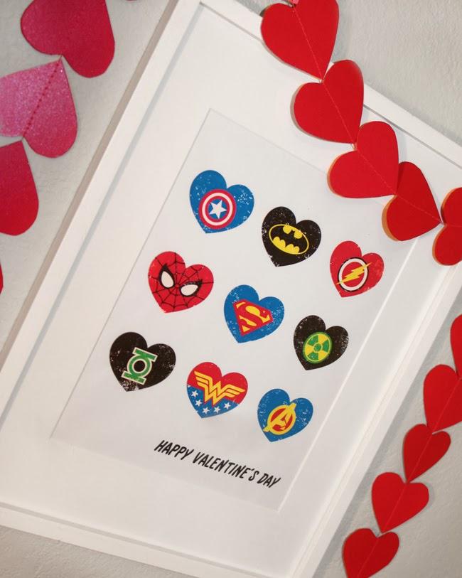 Superhero Valentine's Day printable - livingmividaloca.com