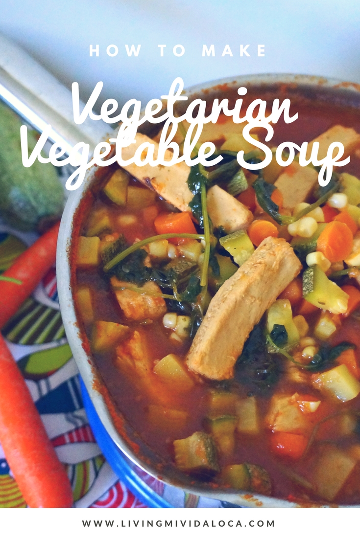how to make Vegetarian Vegetable Soup with Chicken-free Strips Recipe - livingmividaloca.com