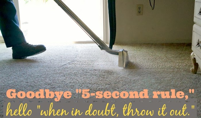 Five second rule myths | LivingMiVidaLoca.com #ZerorezSoCal