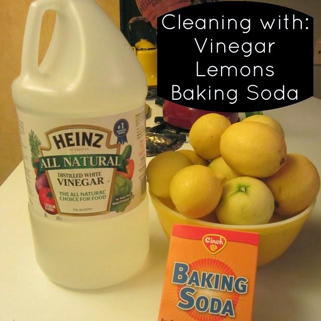 Using lemon, vinegar and baking soda to clean