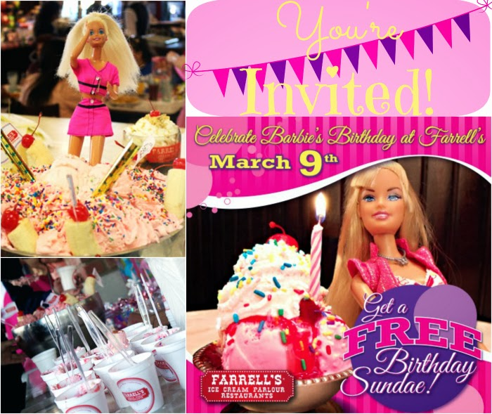Barbie Birthday Party at Farrell's Ice Cream Parlour | LivingMiVIdaLoca.com