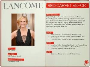How to get Julia Roberts makeup look at 2014 Academy Awards Oscars #LancomeRedCarpet