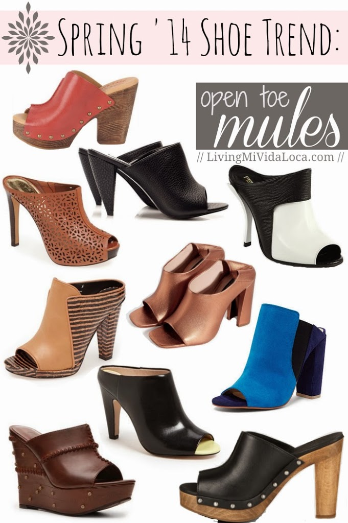 10 best open toe mules for Spring 2014 | LivingMiVidaLoca.com #Spring2014