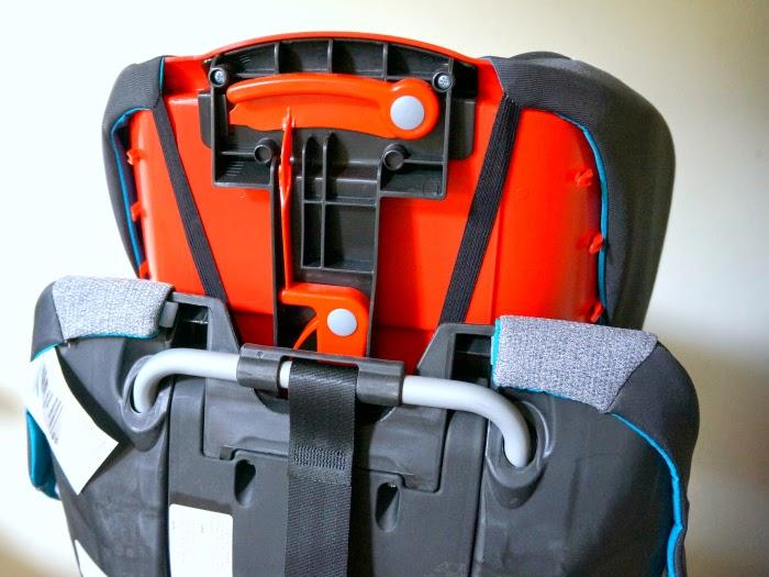 multiple position headrest in convertible car seat // livingmividaloca.com