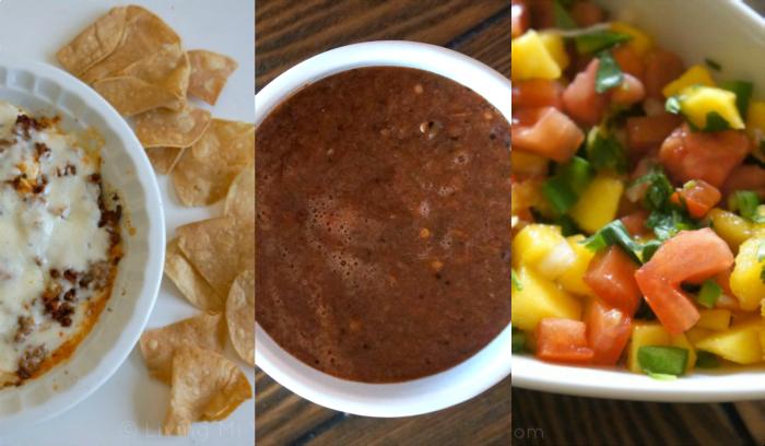 salsa and queso fundido
