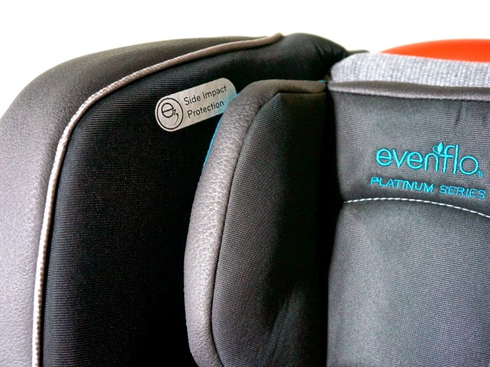 Side impact protection in Evenflo Platinum Symphony™ DLX All-In-One Car Seat  // livingmividaloca.com