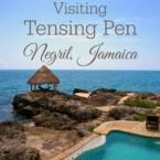 Visiting Tensing Pen at Negril, Jamaica