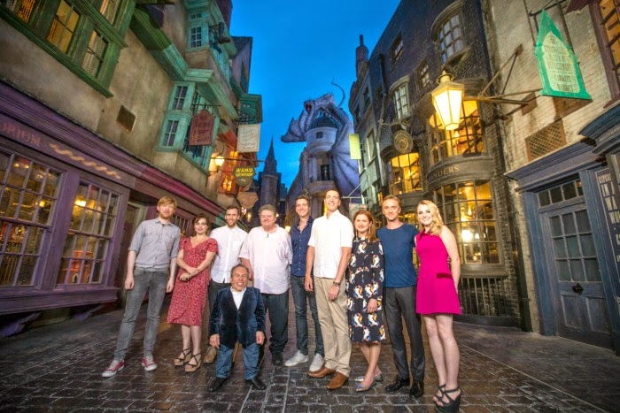Harry Potter film stars preview The Wizarding World of Harry Potter – Diagon Alley
