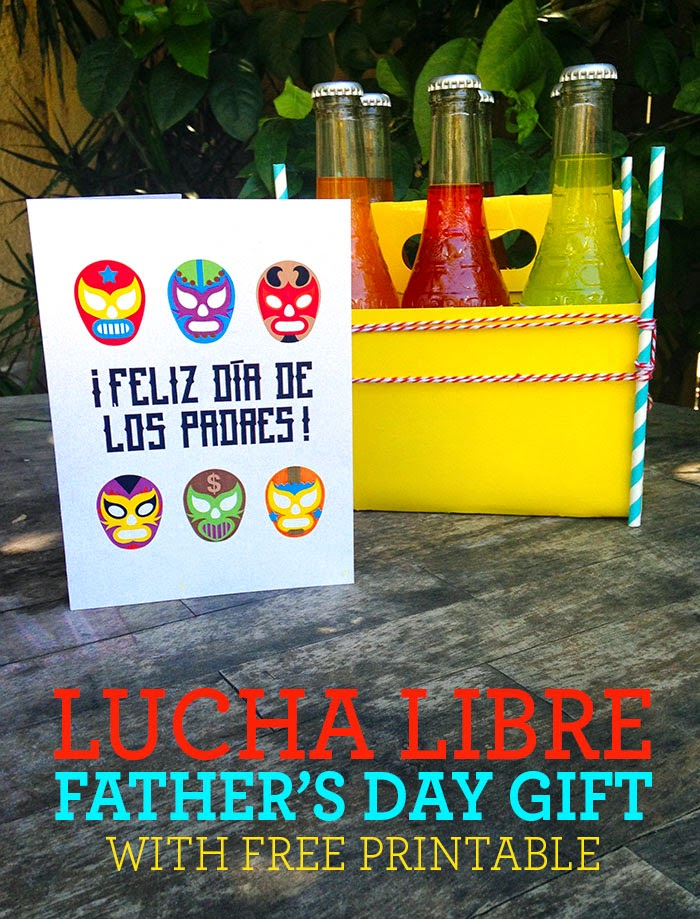 Lucha libre free printable for Father's Day gift