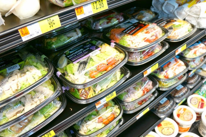 pre-packaged salads at walmart