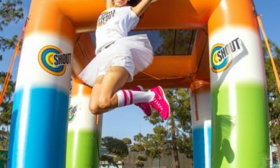 Jumping at the Shout misters // #ShoutItOut #ad