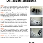 How to do Halloween Skeleton nails