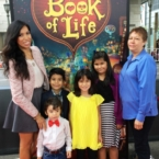 Pattie Cordova at Book of Life red carpet premier