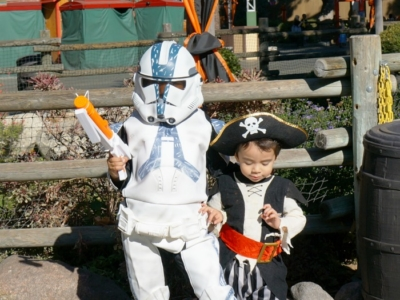 Boys dressed up in costumes