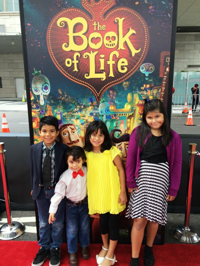 Kids at the Book of Life red carpet premier