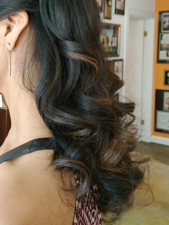 Side view of curls