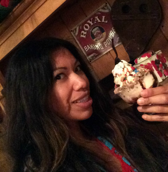 Hot Fudge Sundae bar at Knott's Merry Farm