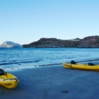 Kayak boats in Loreto, Mexico // #VDPLFAM #VillaDelPalmar