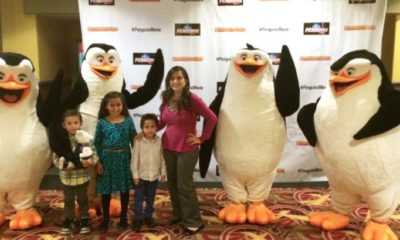 Alma Pedroza at Penguins of Madagascar // LivingMiVidaLoca.com