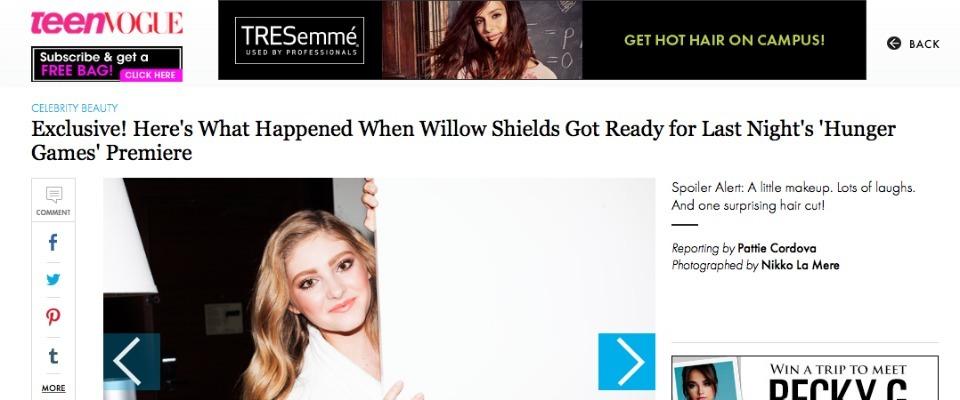 Teen Vogue contributing story // Willow Shields
