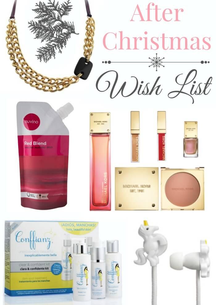 After Christmas Wish list