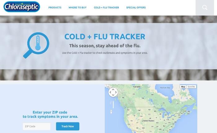 Cold & Flu tracker