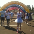 Finishing the color run