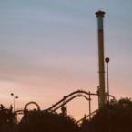 Sunset at Knott's Berry Farm