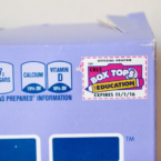 Box top coupon on cereal box