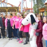 Breast cancer survivors at Knott's Berry Farm