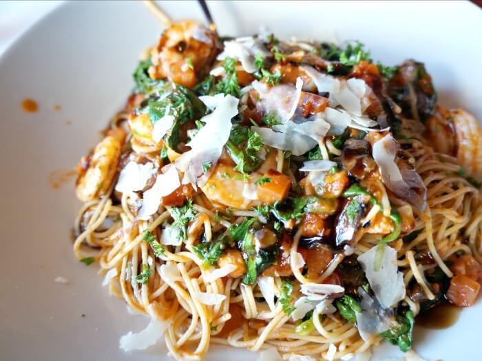 bruschett shrimp pasta at TGI Fridays