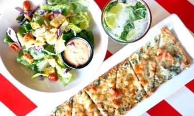 Flatbread, House Salad and House Mojito at TGI Fridays