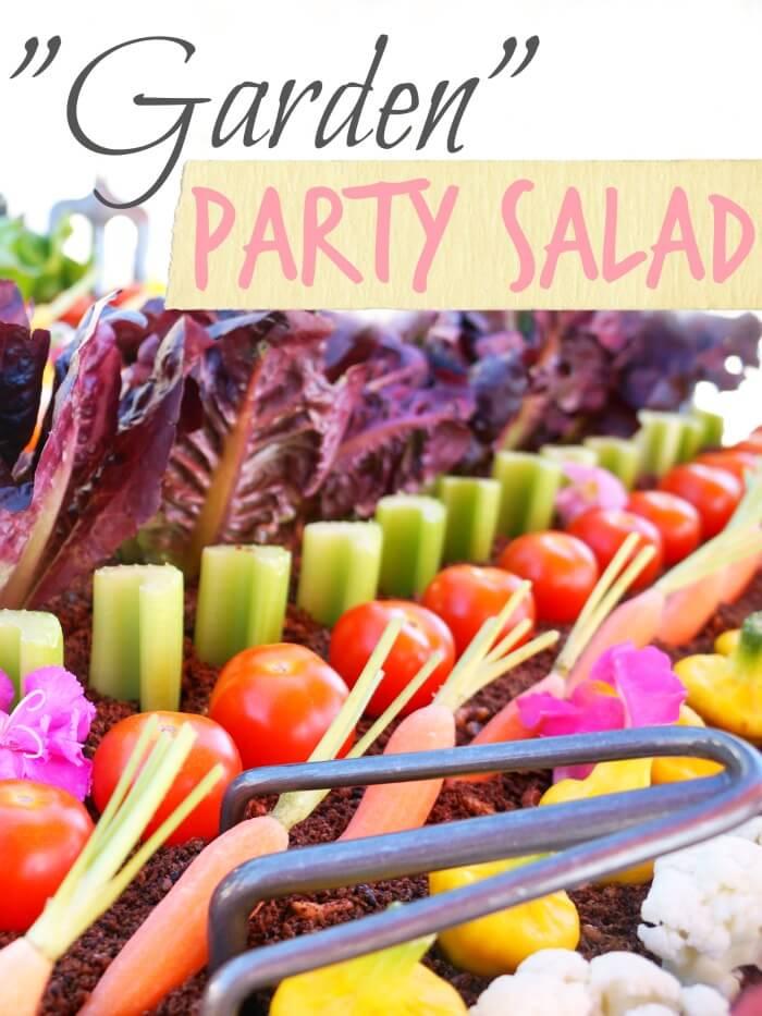 Garden salad for a party