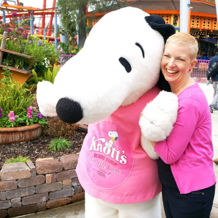 Jaime Jenkins and Snoopy