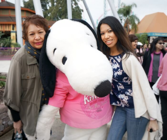 Pattie Cordova and Lupe Quiroz at Knott's for the Cure