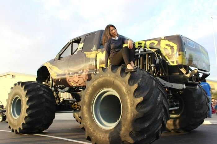 Pattie Cordova on Menace monster truck
