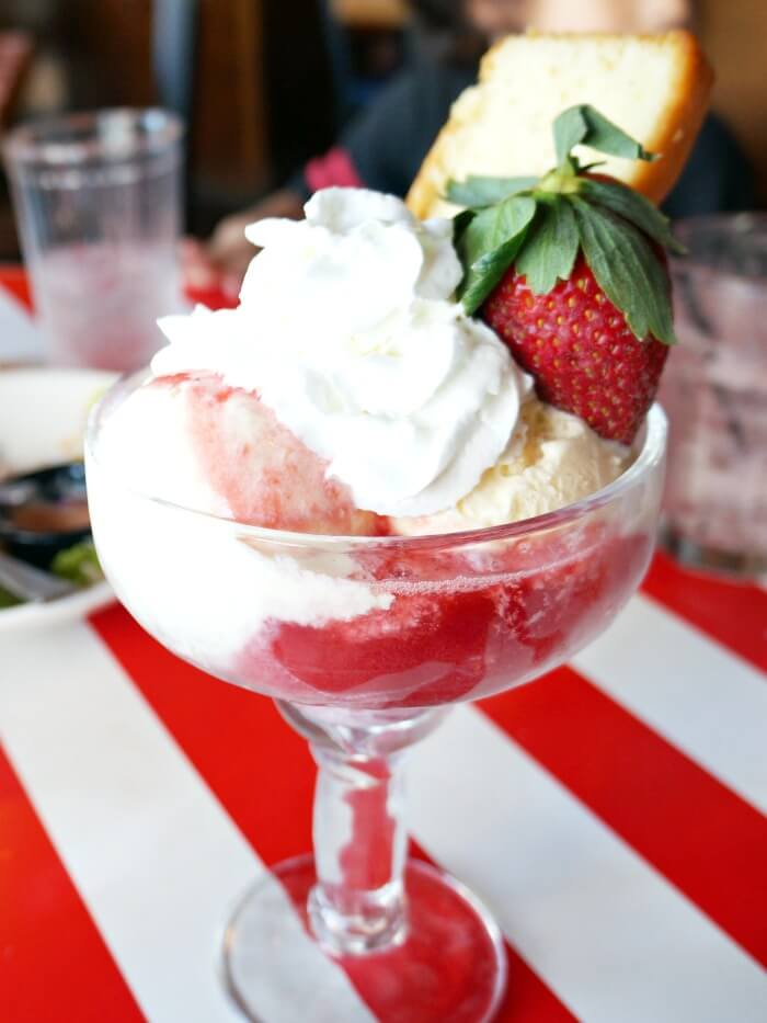 Strawberry shortcake at TGI Fridays