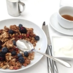 Granola with fresh fruit at Fig & Olive