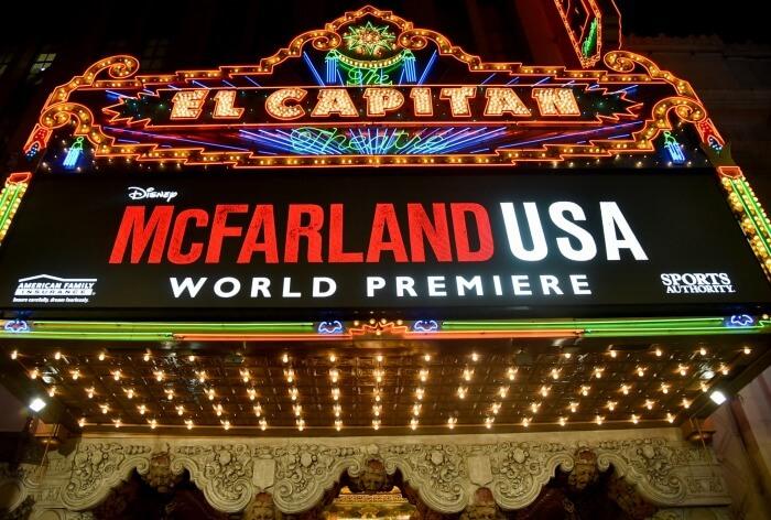 McFarland USA world premiere at El Capitan