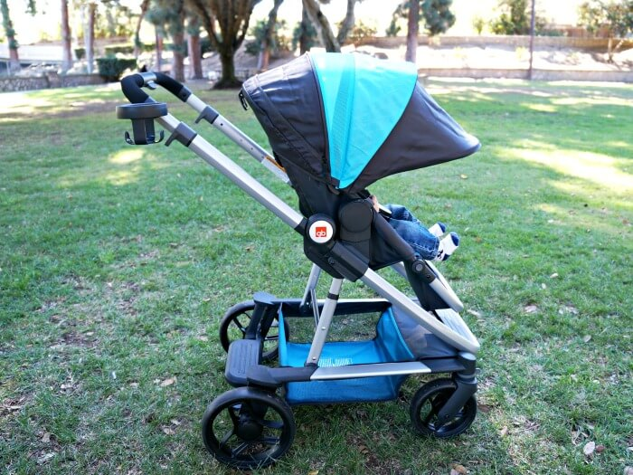 GB Evoq expandable canopy on stroller
