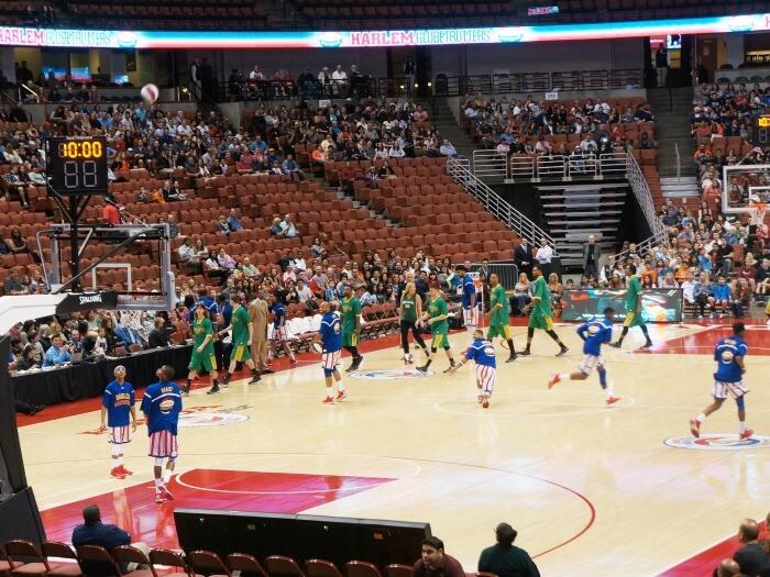 Harlem Globetrotters play at Honda Center
