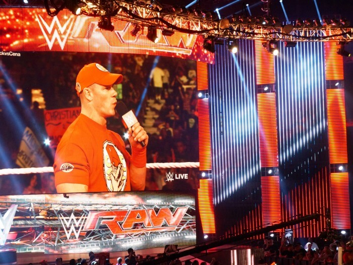 John Cena at WWE Monday Night Raw