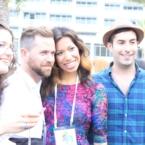 Pattie Cordova with Aaron Yeats and Dan Koday