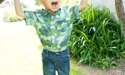 Camouflage kids button dress shirt