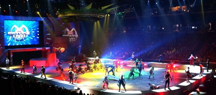Cast of Marvel Universe LIVE! at Honda Center in Anaheim, CA