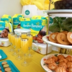 Desserts and mimosas for a viewing party