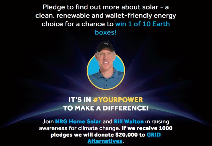 Earth Hour Sweepstakes