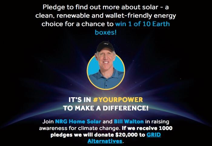 Earth Hour Sweepstakes