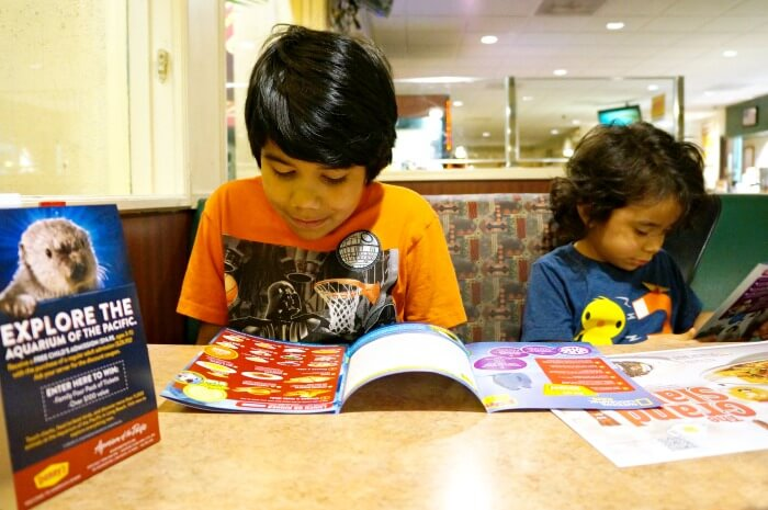 Denny's Kids Menu