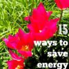 tips on saving energy at home